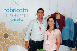 Vista del stand de Fabricato, una de las empresas textiles más importantes de Colombia y de América Latina, con productos de exportación a gran número de países.