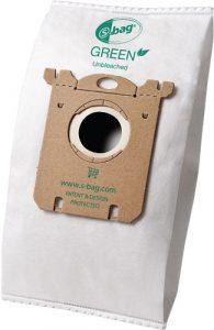 Fibra Ingeo™ de NatureWorks LLC y la cual es usada las bolsas de las limpiadoras caseras por aspiración de la marca Green Electrolux s-bag™ para limpiar basura.