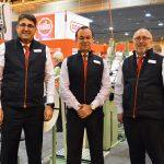 (lzquierda a derecha): Robert Reimann, CEO, Jakob Müller Group; Héctor Centeno, gerente general, Jakob Müller de México;  y Hans J. Riser, vicepresidente ejecutivo, Jakob Müller of America Inc.