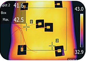 Los materiales de calefacción y la configuración del cable proporcionan un calentamiento uniforme.