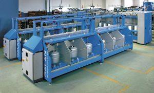 Galan ofrece su máquina Gama Up-Twister 2x1 con doble torsión y anillo para el cableado en línea y torsión en una sola operación.